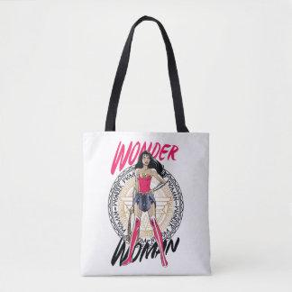 Tote Bag Femme de merveille avec l'emblème tribal grec