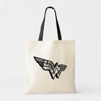 Tote Bag Femme de merveille s'asseyant dans le logo à