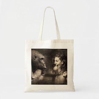 Tote Bag Femme faisant le gorille rire