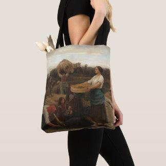 Tote Bag Femmes rurales moissonnant la graine de colza par