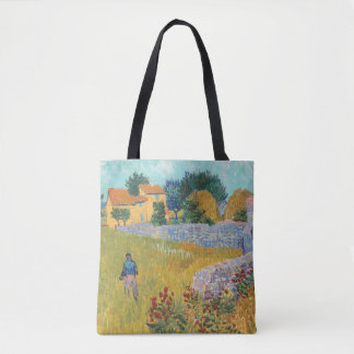 Tote Bag Ferme reconstituée en Provence par Van Gogh