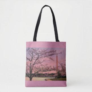Tote Bag Festival de fleurs de cerisier de monument de