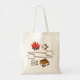 Tote Bag Feu de camp + Guimauve = S'mores Fourre-tout