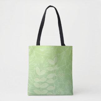Tote Bag Feuillage tropical Thé-Vert tout plus de -