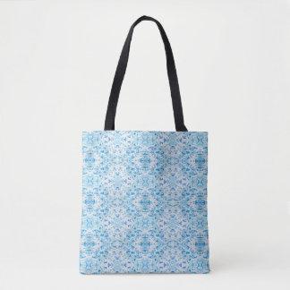 Tote Bag Feuille tombé bleu