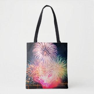 Tote Bag Feux d'artifice colorés