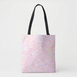 Tote Bag Ficelles modernes colorées - pastel de perle