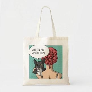 Tote Bag Fille avec l'illustration grossière Fourre-tout de