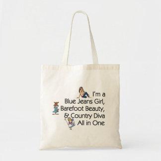 Tote Bag Fille de blues-jean de PIÈCE EN T