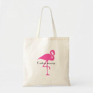 Tote Bag Flamant fourre-tout - ajoutez votre message fait