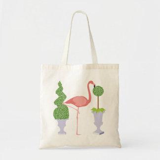 Tote Bag Flamant rose dans le jardin topiaire