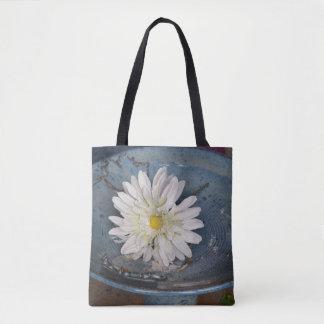 Tote Bag Fleur à Bath d'oiseau