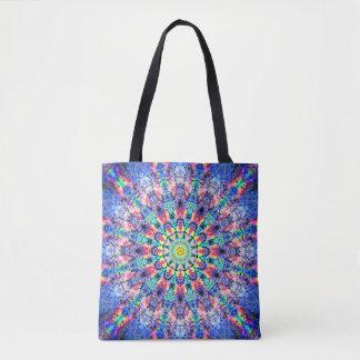Tote Bag Fleur colorée de fractale
