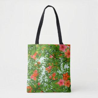 Tote Bag Fleur tropicale fourre-tout