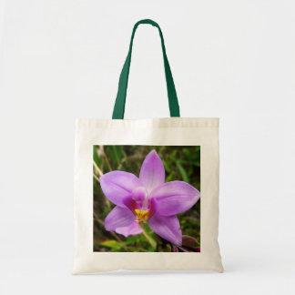Tote Bag Fleur tropicale pourpre d'orchidée sauvage
