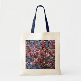 Tote Bag Fleurs de cerisier et ressort de ciel bleu floral