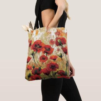 Tote Bag Fleurs de ressort dans un jardin