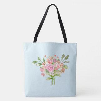 Tote Bag Fleurs Girly de ressort d'aquarelle