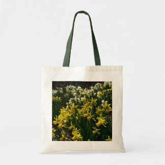 Tote Bag Fleurs jaunes et blanches de ressort de jonquilles