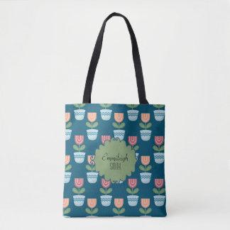 Tote Bag Fleurs personnalisées mignonnes de rose et de