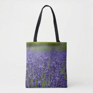 Tote Bag Fleurs pourpres de lavande