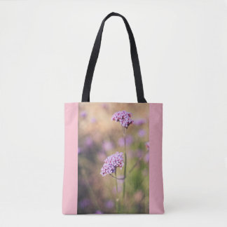 Tote Bag Fleurs sauvages roses