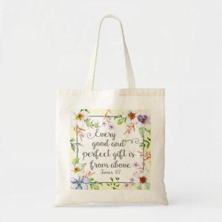Tote Bag Floral blanc chaque bon et parfait cadeau