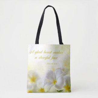 Tote Bag Floral jaune du 15:13 % pipe% de proverbes du vers