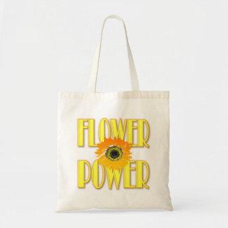 Tote Bag Flower power Fourre-tout - conception de tournesol