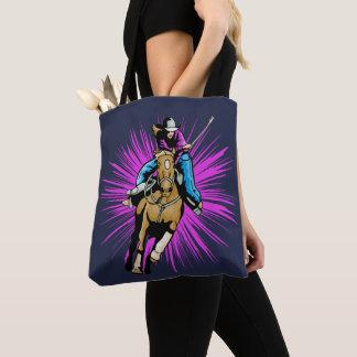 Tote Bag Fonctionnement occidental de cheval d'équitation
