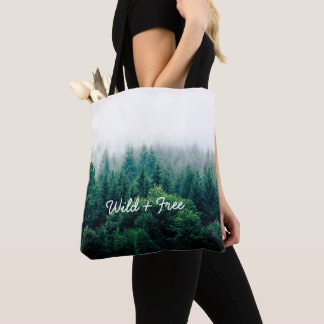 Tote Bag Forêt assez verte sauvage et libre