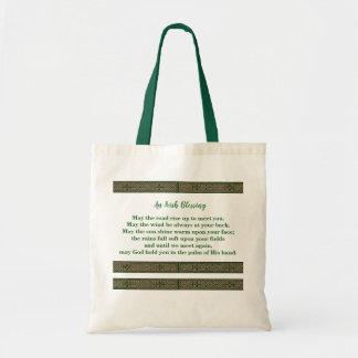 Tote Bag Fourre-tout avec la bénédiction irlandaise et le