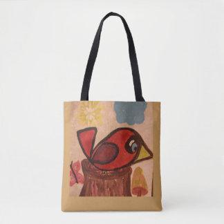 Tote Bag Fourre-tout avec le cardinal