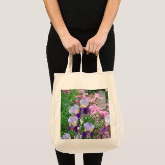 Tote Bag Fourre-tout avec les iris bleus et les azalées