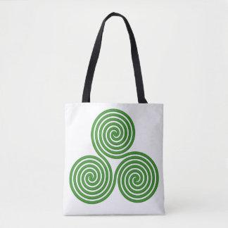 Tote Bag Fourre-tout blanc en spirale triple
