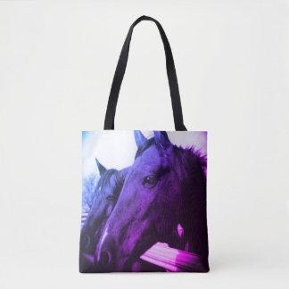 Tote Bag Fourre-tout - cheval pourpre