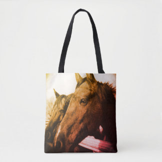 Tote Bag Fourre-tout - cheval rouge