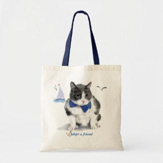Tote Bag fourre-tout :  comportant Felix, le minou, pendant