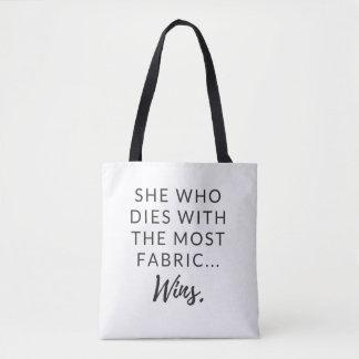 Tote Bag Fourre-tout drôle pour des quilters