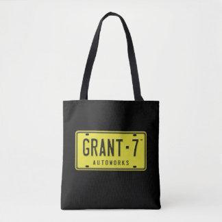 Tote Bag Fourre-tout noir et rose de logo de G7
