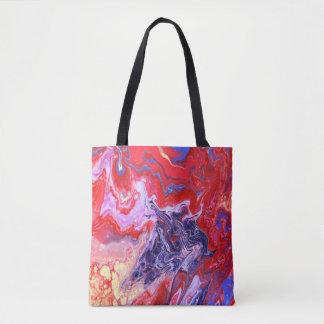 Tote Bag Fourre-tout rouge et pourpre