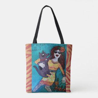 Tote Bag Fourre-tout sac-mon humain est une délivrance