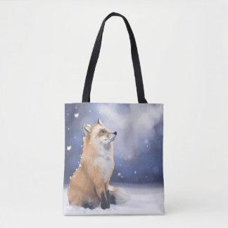 Tote Bag Fox dans la neige