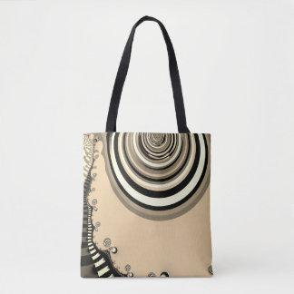 Tote Bag fractale abstraite de sépia de conception