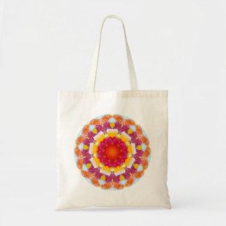 Tote Bag Fractale mélangée de sucrerie de fleur