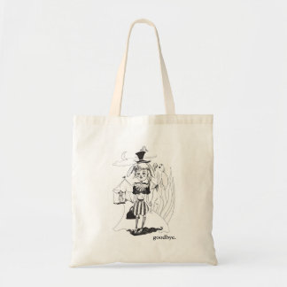 "Tote Bag ""G'bye mon clown"" Fourre-tout, avec ""au revoir."""