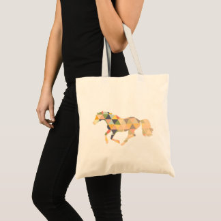 Tote Bag Geometrical horse cantering par