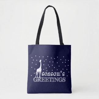 Tote Bag Girafe de Joyeuses Fêtes