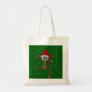 Tote Bag Girafe de Noël