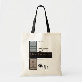 """Tote Bag """"GO HOME""""tote bag"""